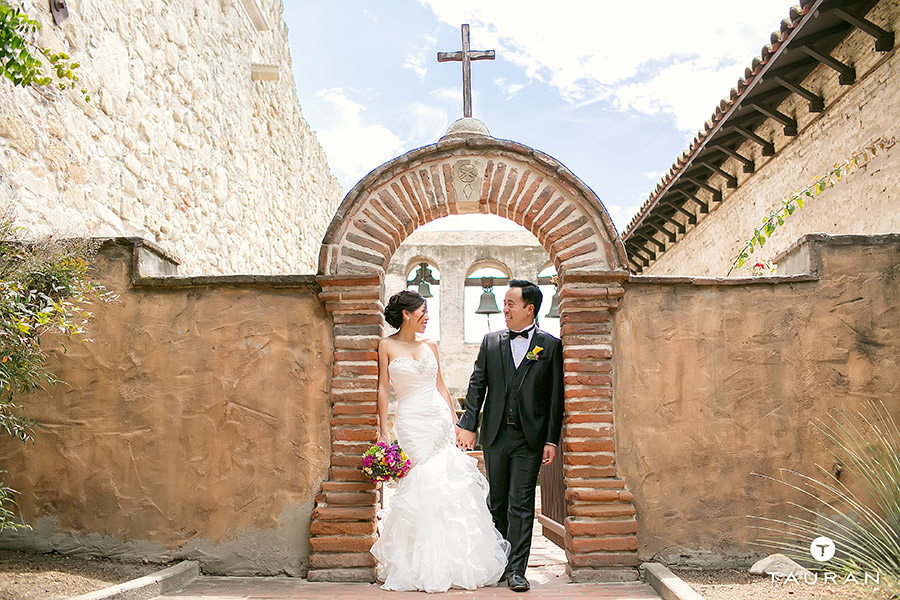 Hsiao Ting David Mission San Juan Capistrano Wedding